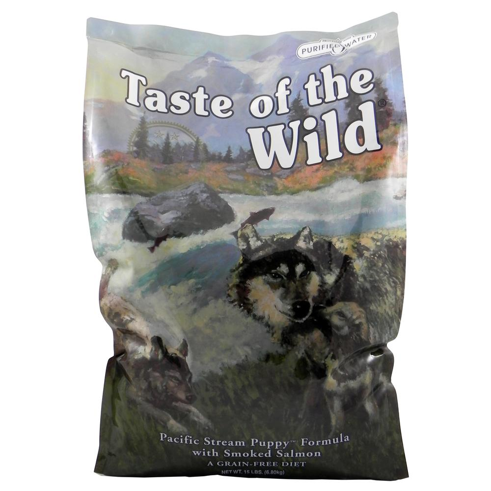 Taste of the Wild Pacific Stream Grain-Free Puppy Food 15Lb.