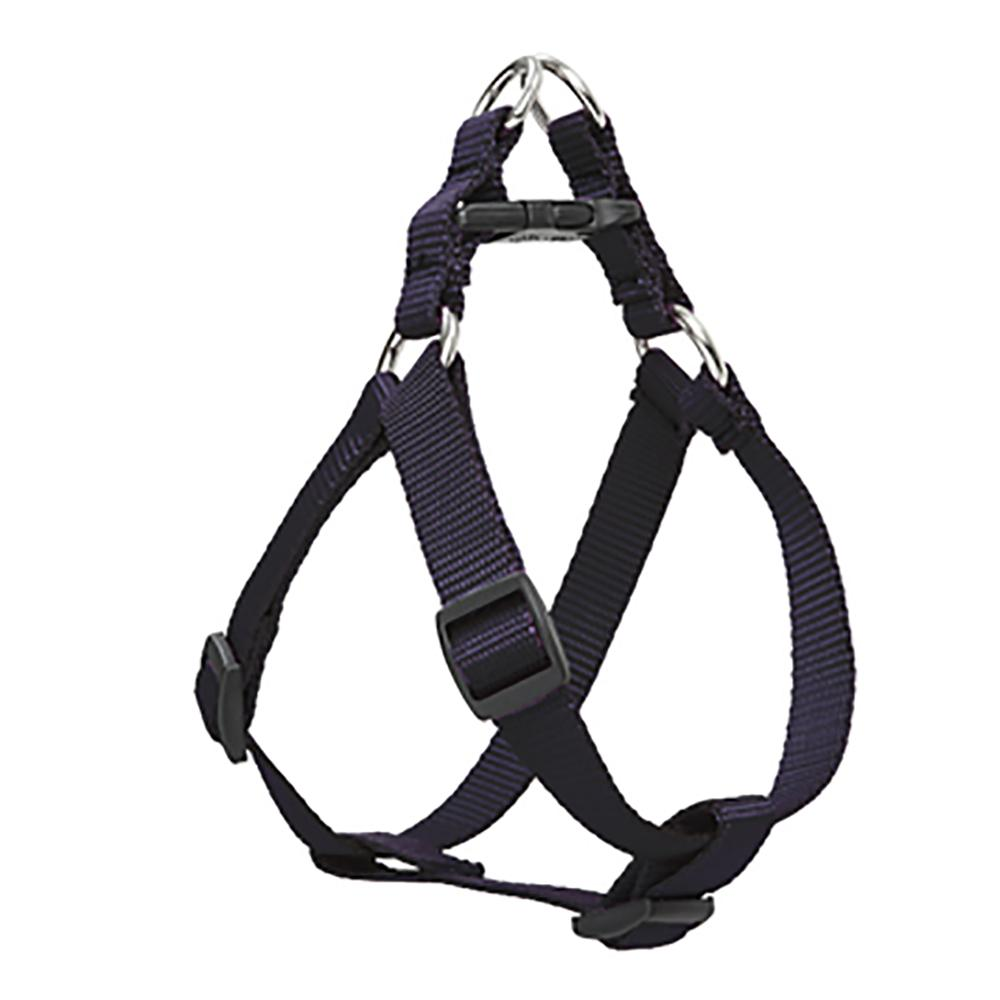 Nylon Dog Harness Step In Black 15-21 inches