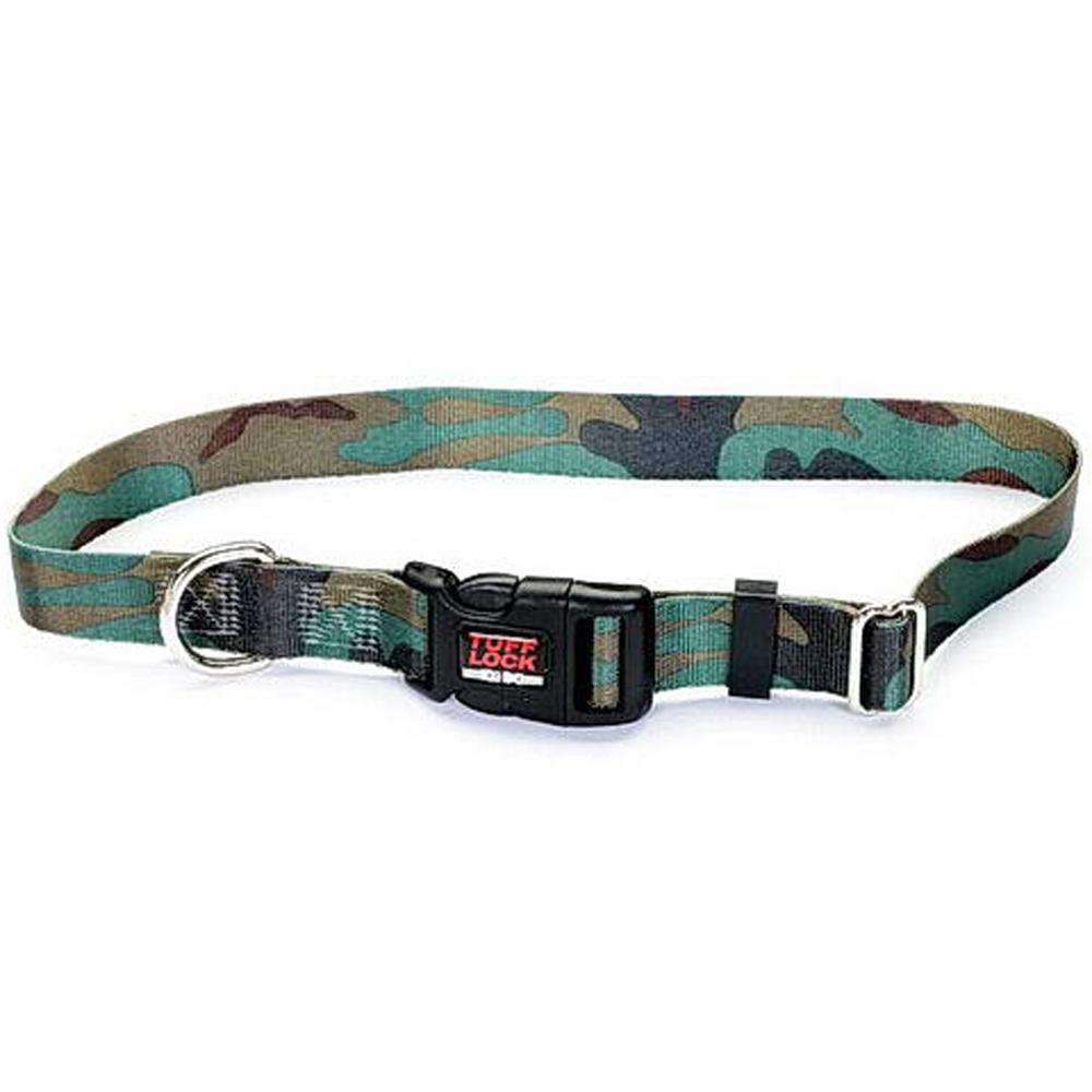 Tuff-Lock Large Camo Adjustable Nylon Dog Collar