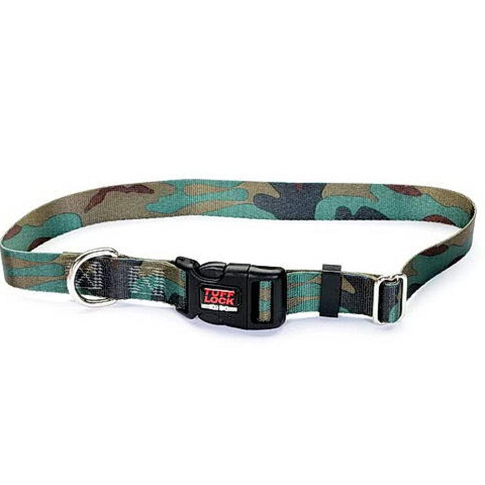 Tuff-Lock Small Camo Adjustable Nylon Dog Collar