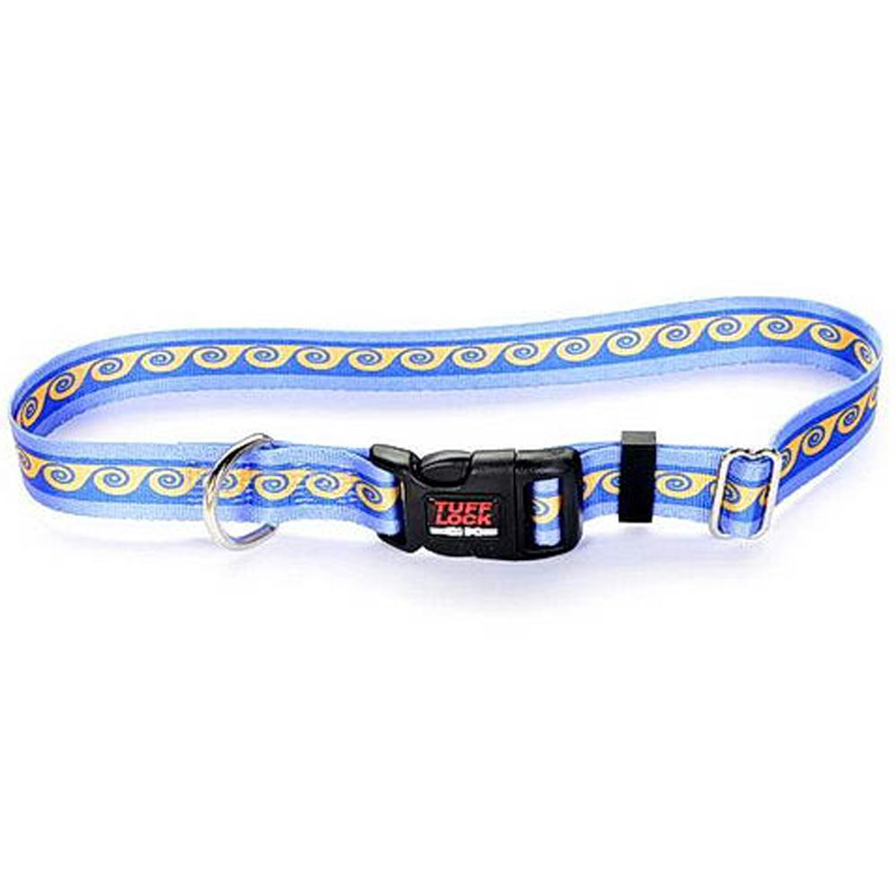 Tuff-Lock Large Waves Adjustable Nylon Dog Collar