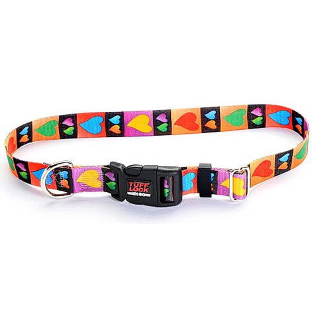 Tuff-Lock Medium Hearts Adjustable Nylon Dog Collar