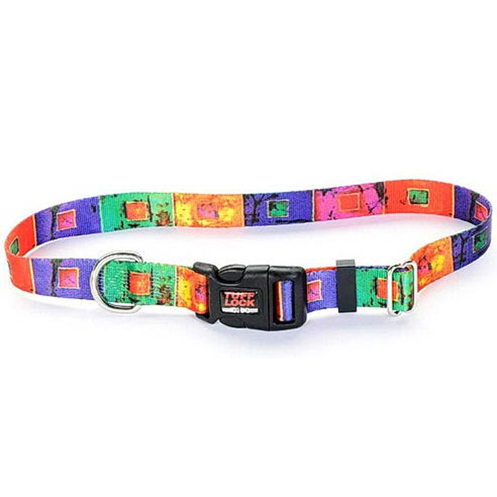 Tuff-Lock XSmall Stained Glass Adjustable Nylon Dog Collar