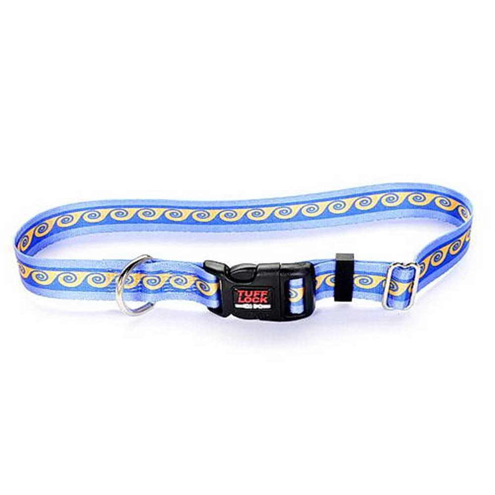 Tuff-Lock XSmall Waves Adjustable Nylon Dog Collar