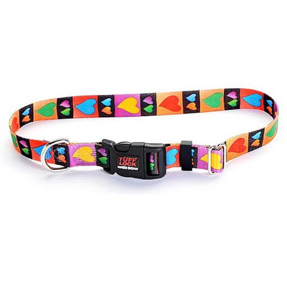 Tuff-Lock XSmall Hearts Adjustable Nylon Dog Collar