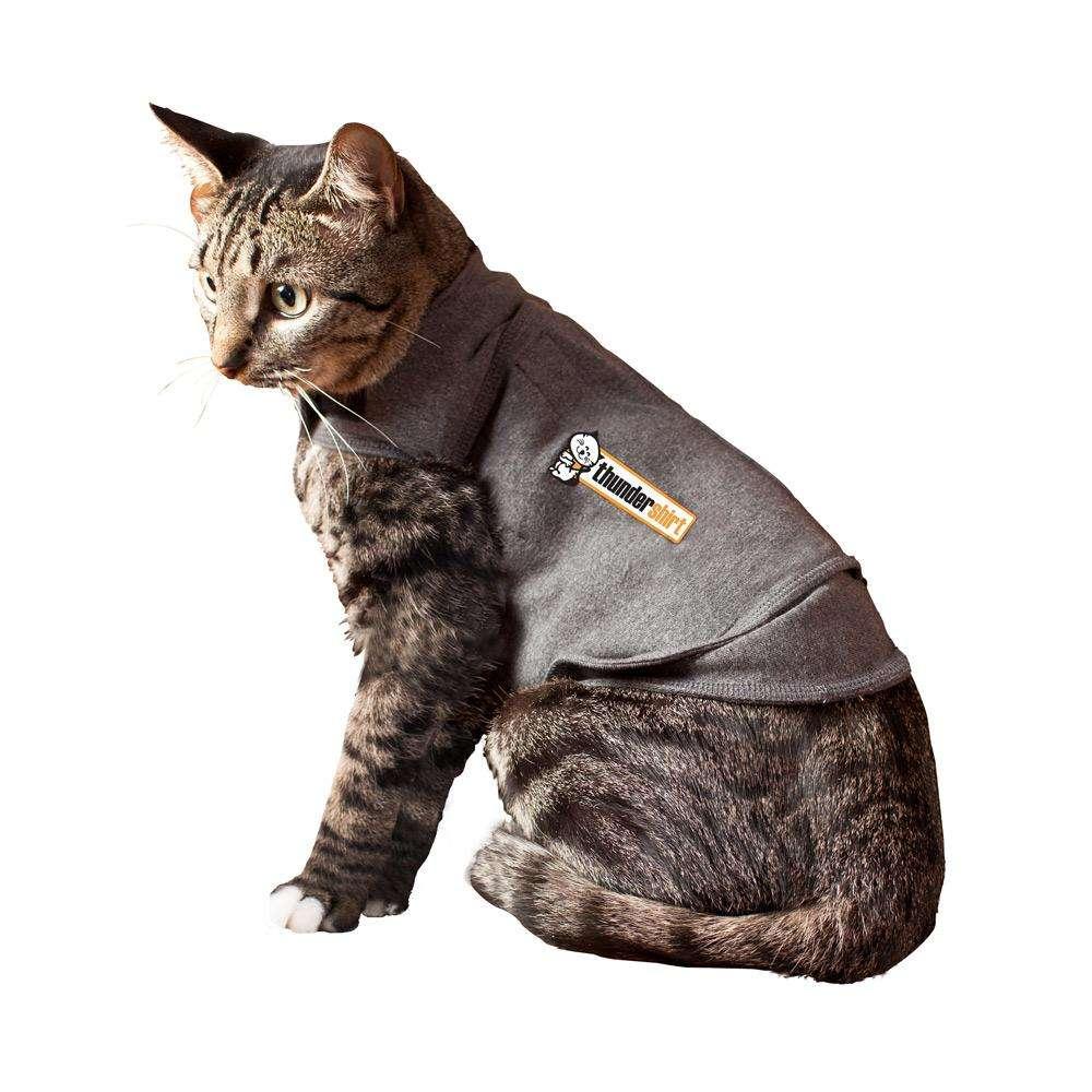 Thundershirt for Cats Medium Grey Anti-Anxiety Garment