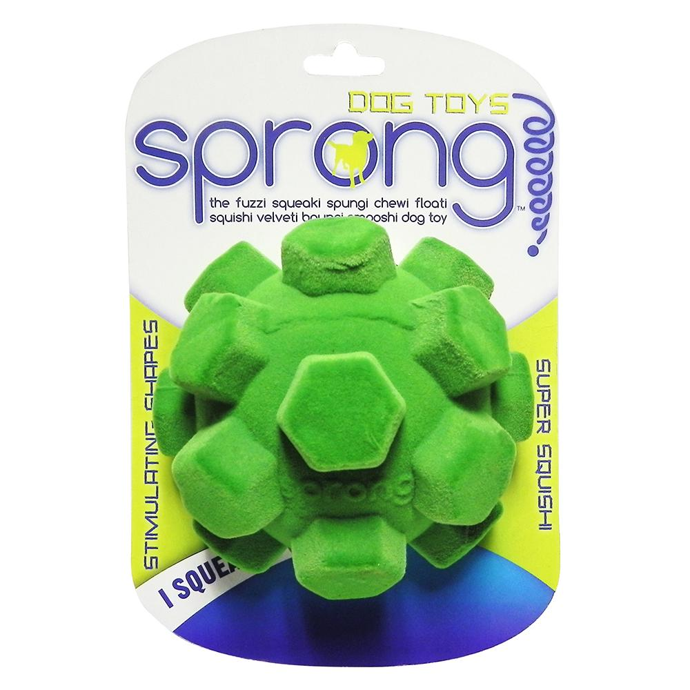 Sprong Large Hex Ball Floating Squishi Velveti Plush Dog Toy