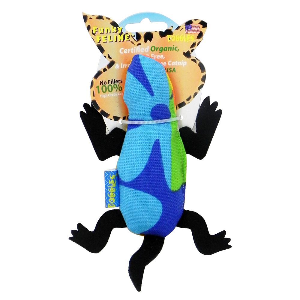 Funky Feline Hawaiian Print Catnip Frog