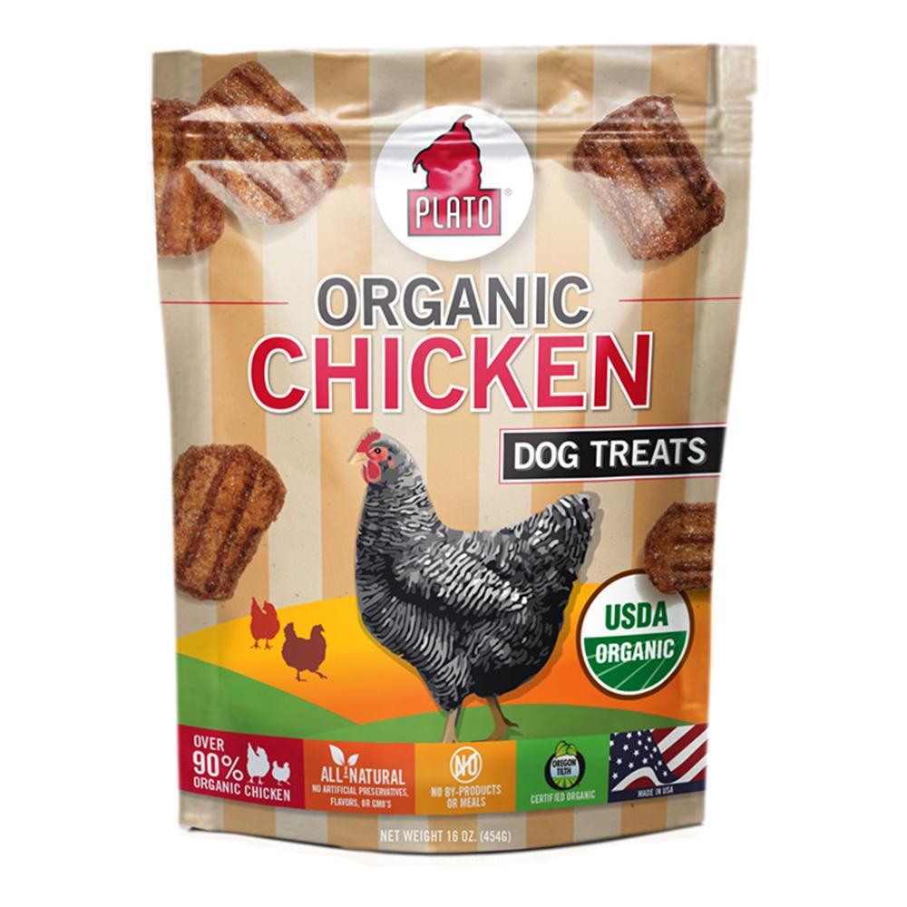Plato Organic Chicken Dog Treats 16-oz.