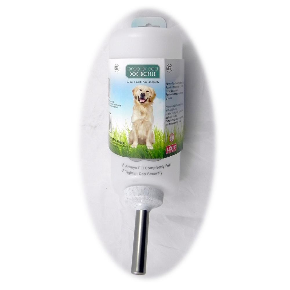 Lixit Large Breed Dog Water Bottle for Carriers 32oz.