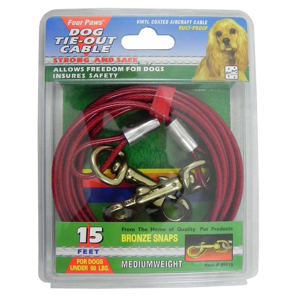 Medium Weight Tie-Out Cable for Small to Medium Dogs 15-ft.