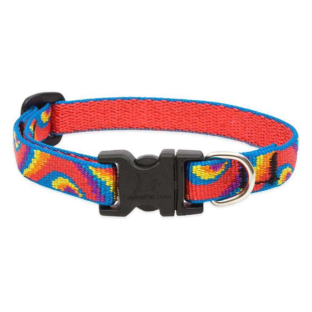 Dog Collar Adjustable Nylon Lollipop 6-9 1/2 inch wide