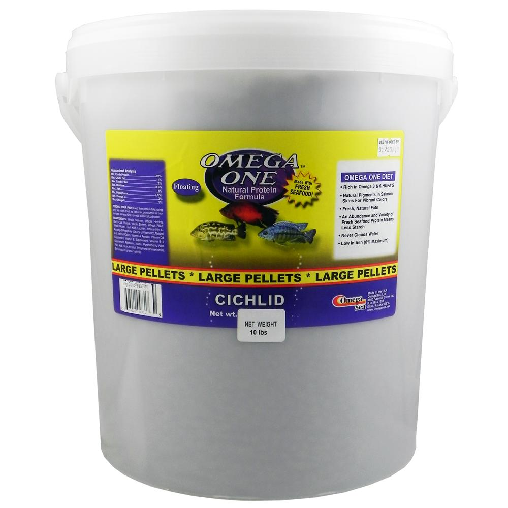 Omega One Large Cichlid Pellets Fish Food 10-lb