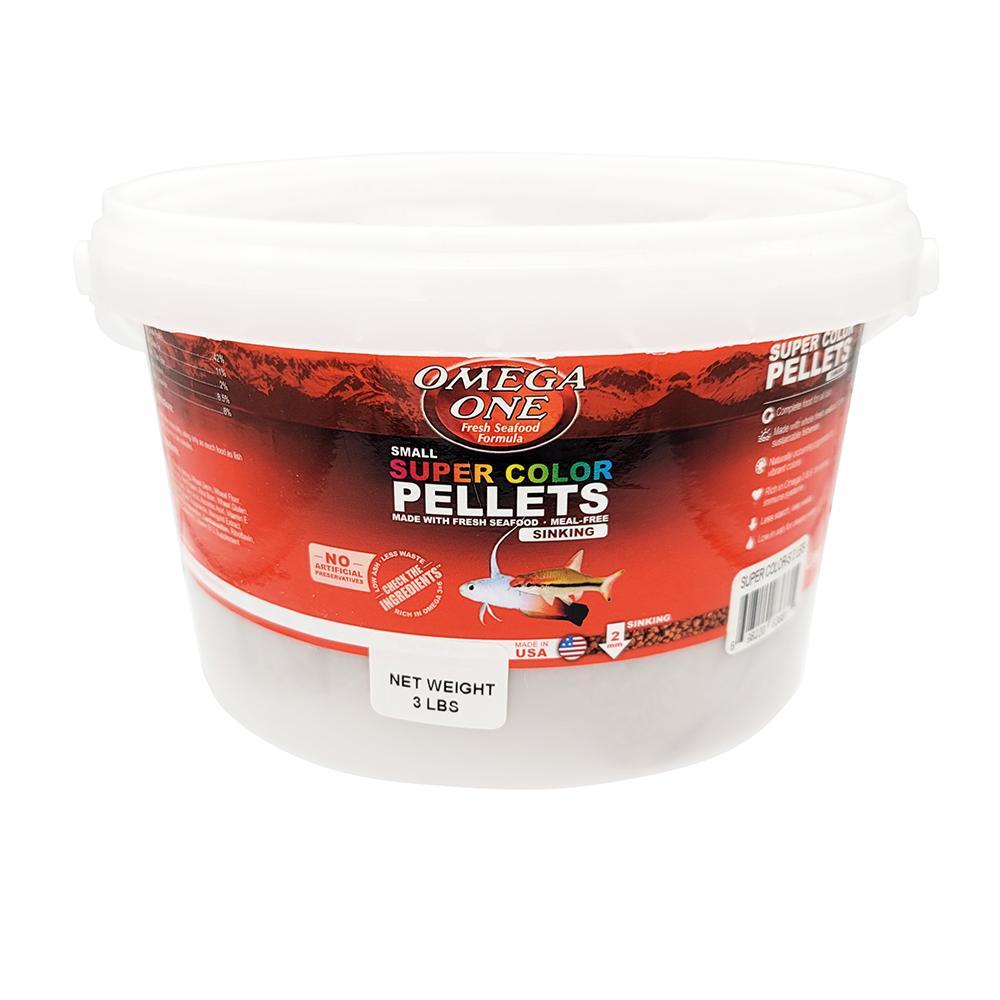 Omega One Super Color Sinking Pellets Fish Food 3-Lb.