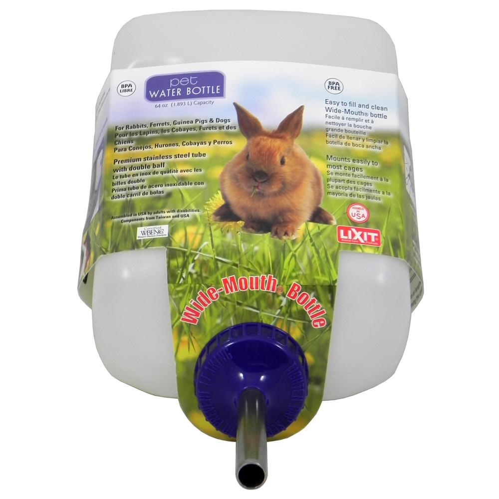Lixit Wide Mouth BPA Free Pet Water Bottle 64 oz