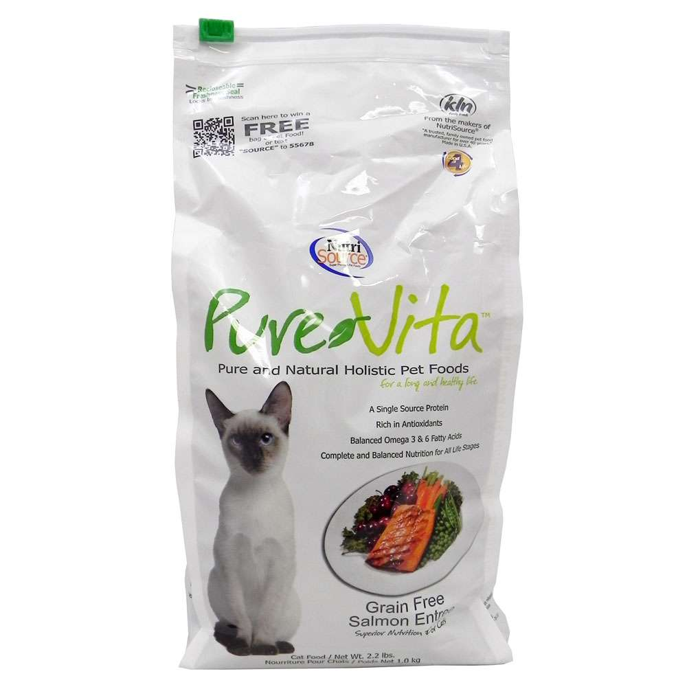 PureVita NutriSource Grain-Free Salmon Cat Food 2.2lb