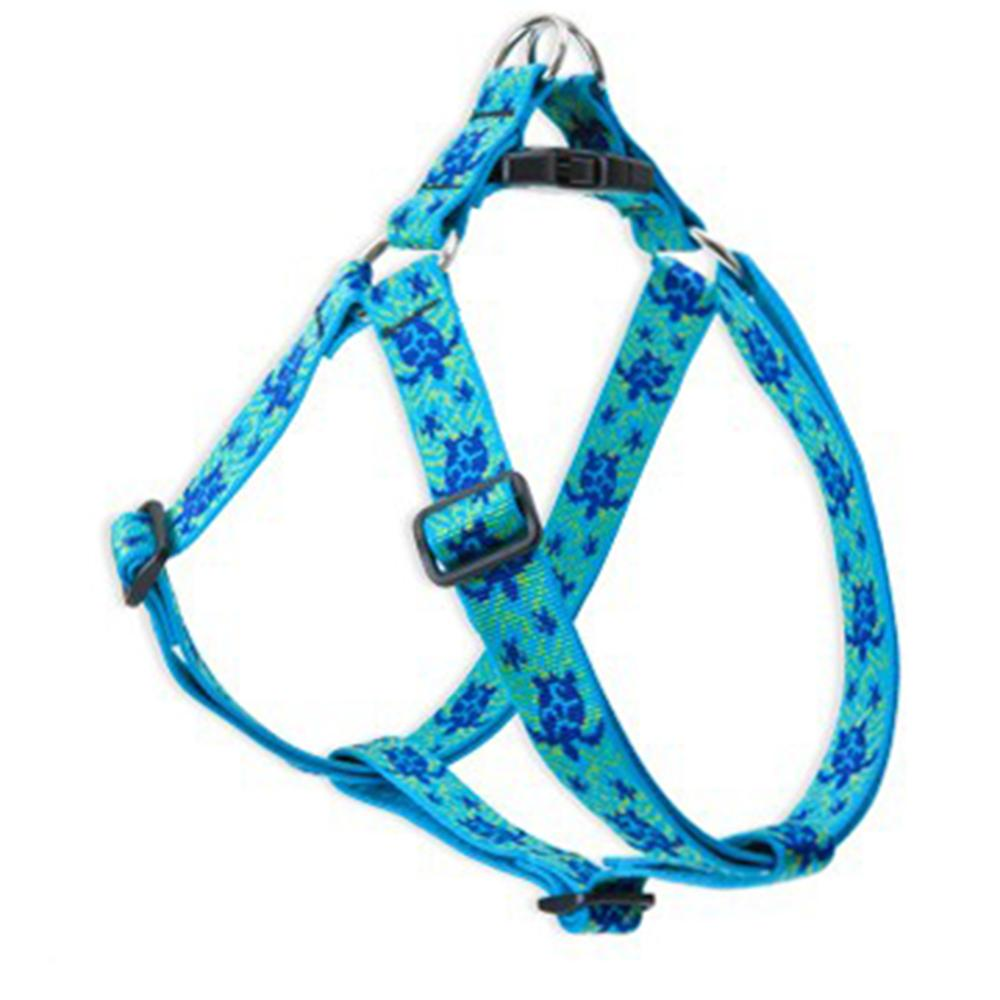 Nylon Dog Harness Step In Turtle Reef 19-28 inches