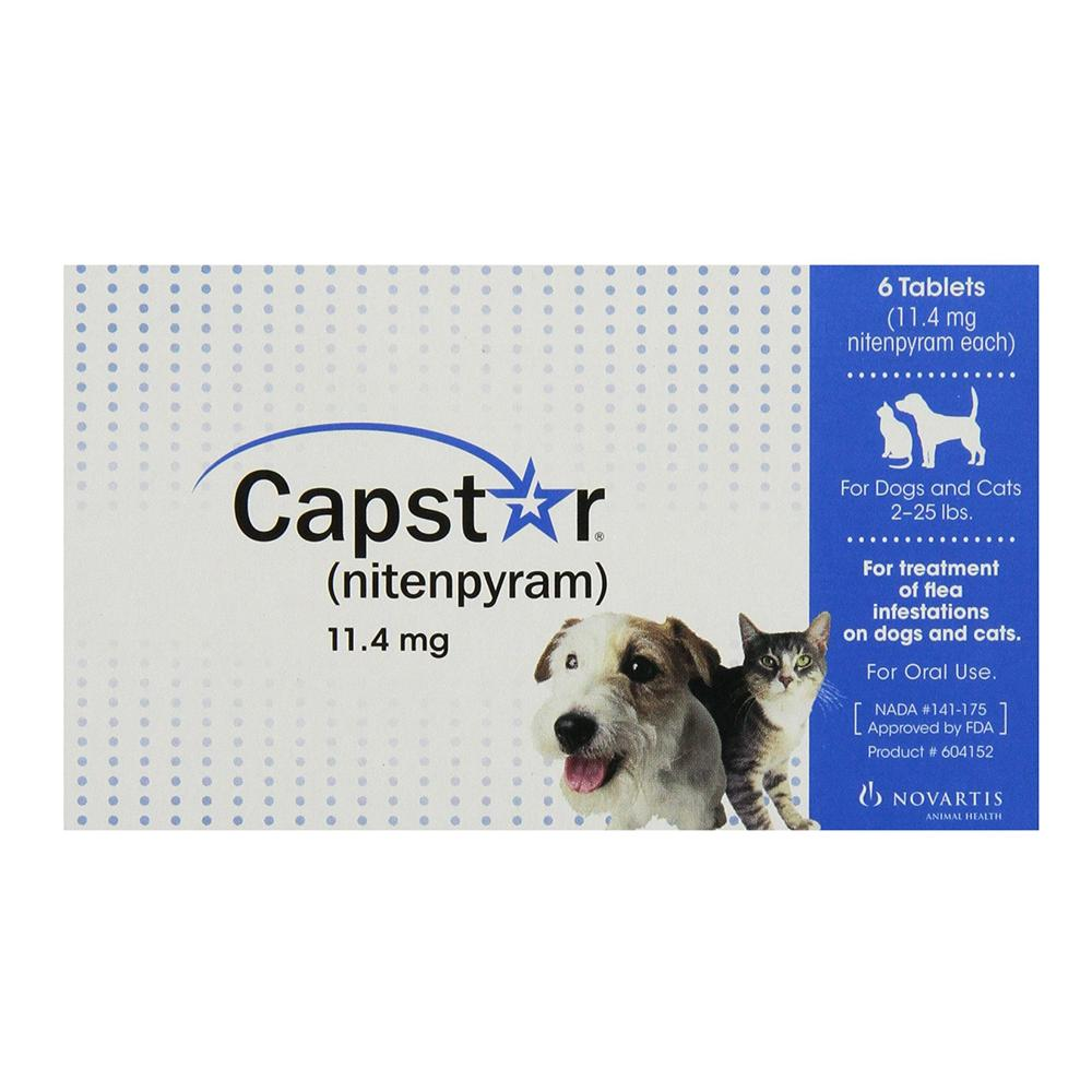Capstar Oral Flea Treatment for Pets 2-25lbs. 6 Pack