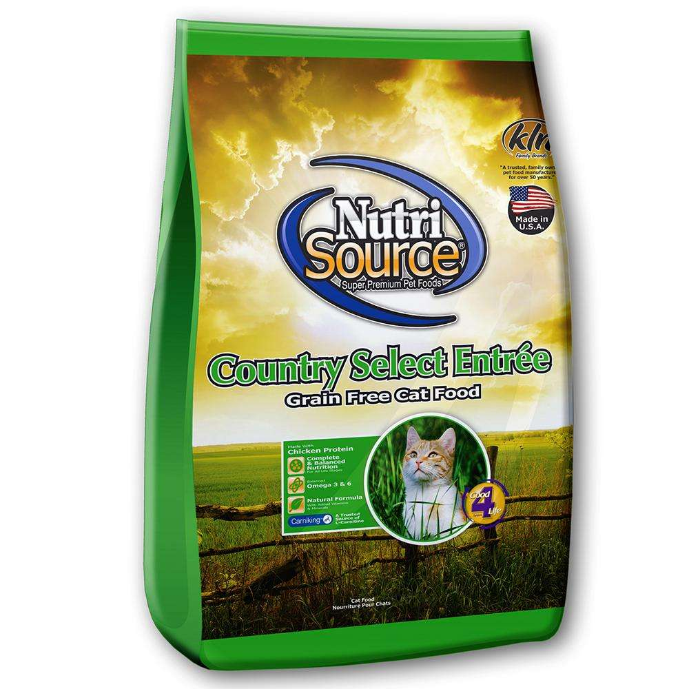 NutriSource Country Select Entree Grain Free Cat Food 6.6 lb
