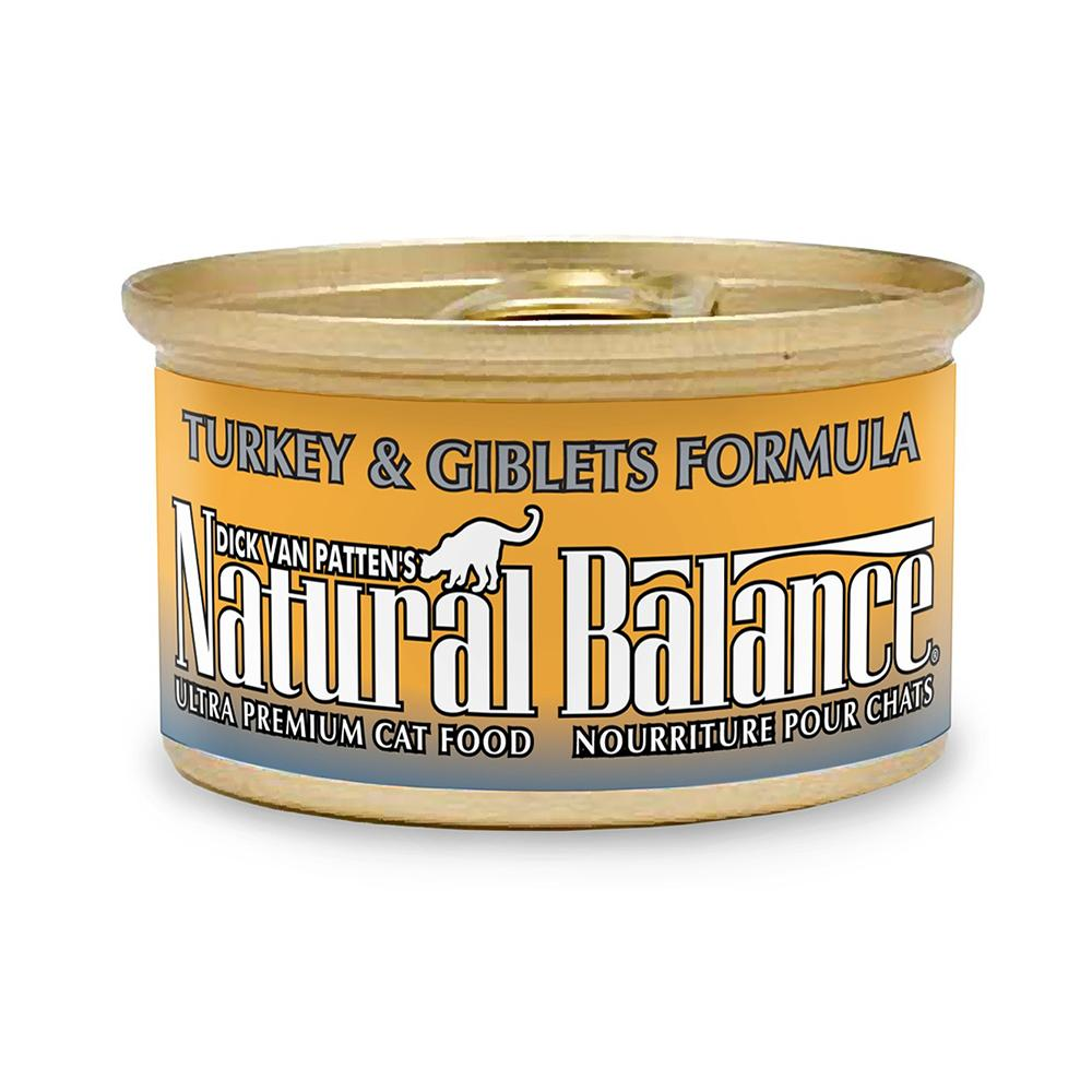 Natural Balance Turkey and Giblet Canned Cat Food 3oz Case