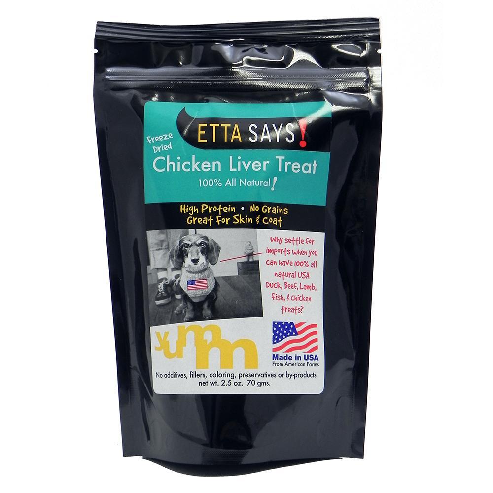 Etta Says! Freeze Dried Chicken Liver Dog Treat 2.5 oz.