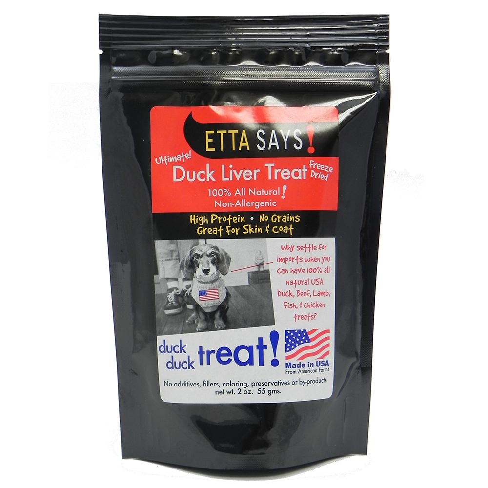 Etta Says! Freeze Dried Duck Liver Dog Treat 2 oz.