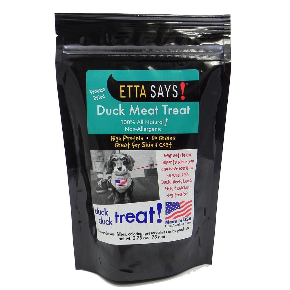 Etta Says! Freeze Dried Duck Meat Dog Treat 2.75 oz.