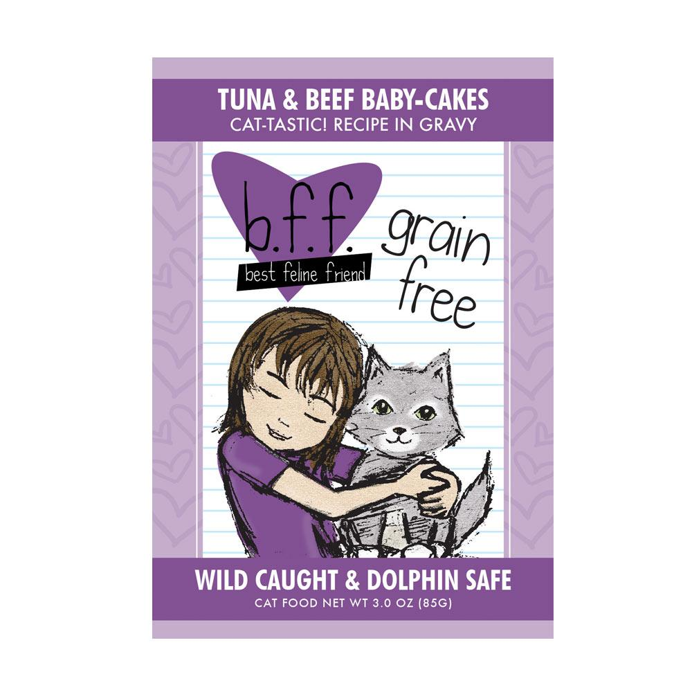 BFF Tuna & Beef Baby Cakes Recipe Pouch 3oz case