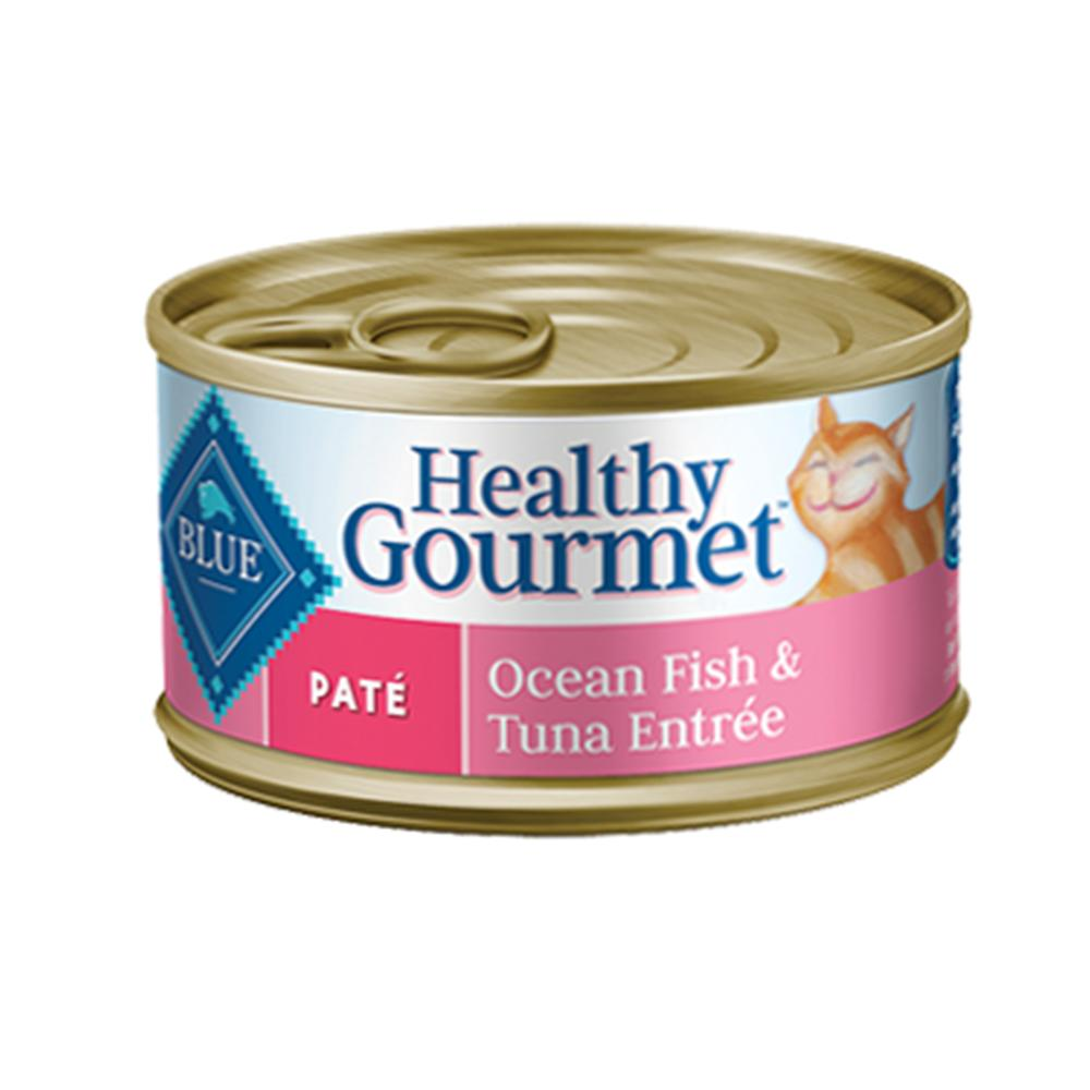 Blue Cat Ocean Fish/Tuna Pate Canned Cat Food 5.5-oz. Case