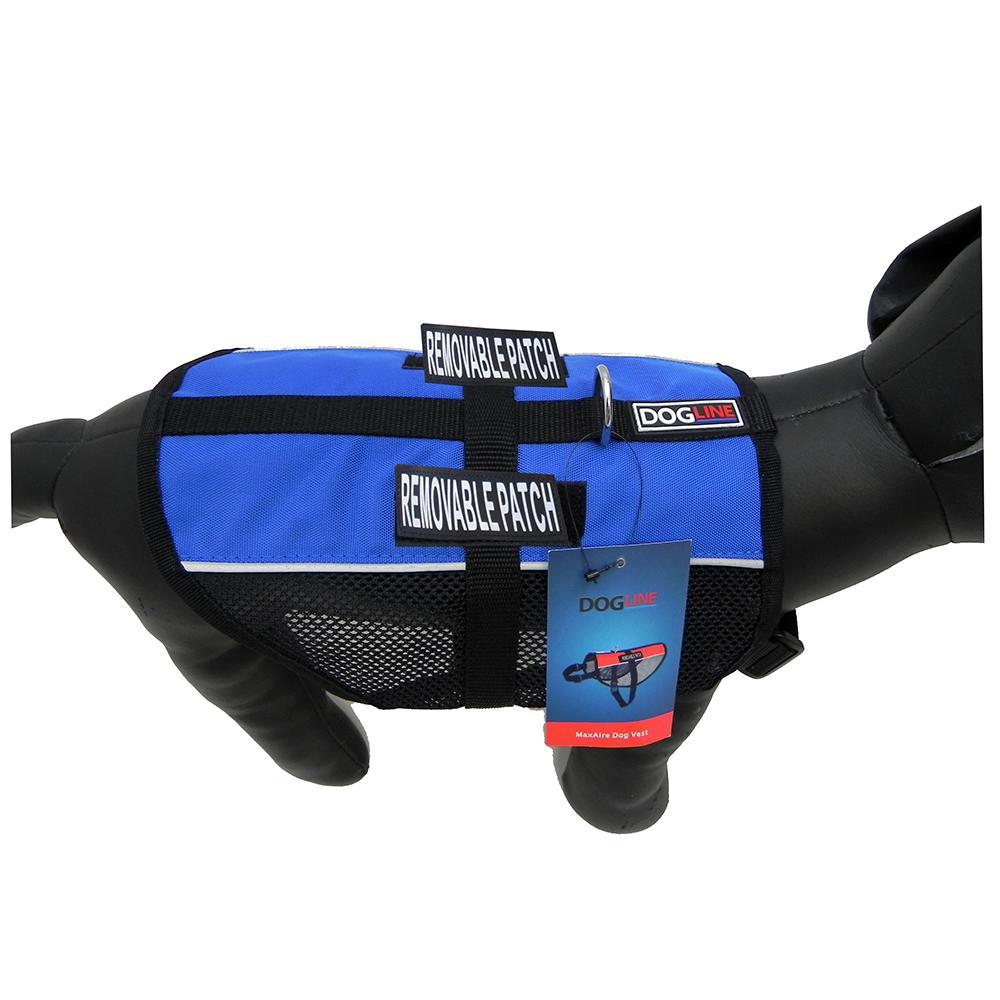 MaxAire Medium Blue Mesh Vest for Service Dogs