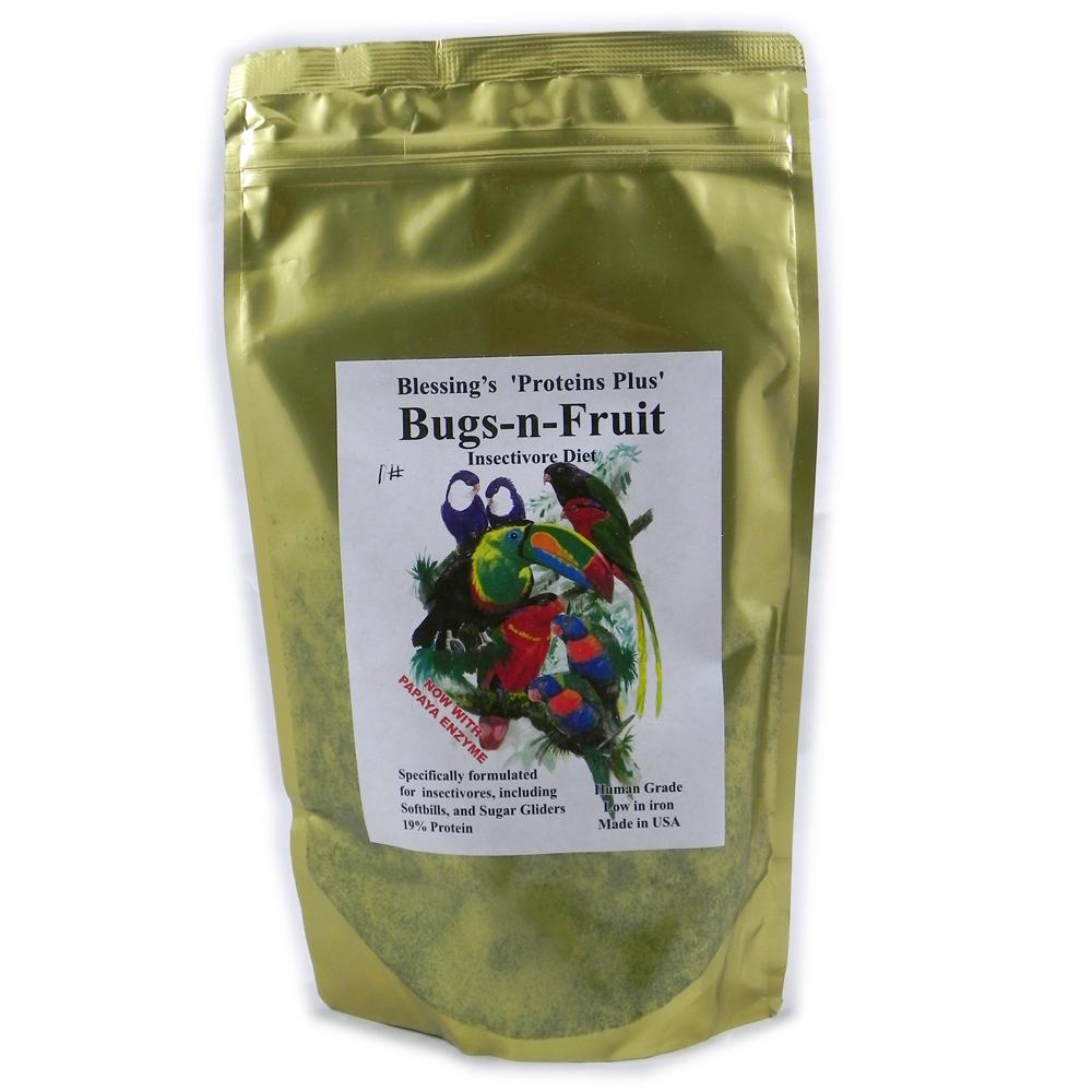 Blessing's Bugs-N-Fruit Low-Iron Insectivore Diet 1-Lb.