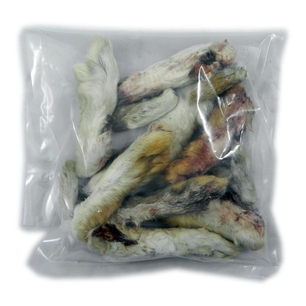 Dehydrated Rabbit Feet Natural Dog Treat 15 Pack