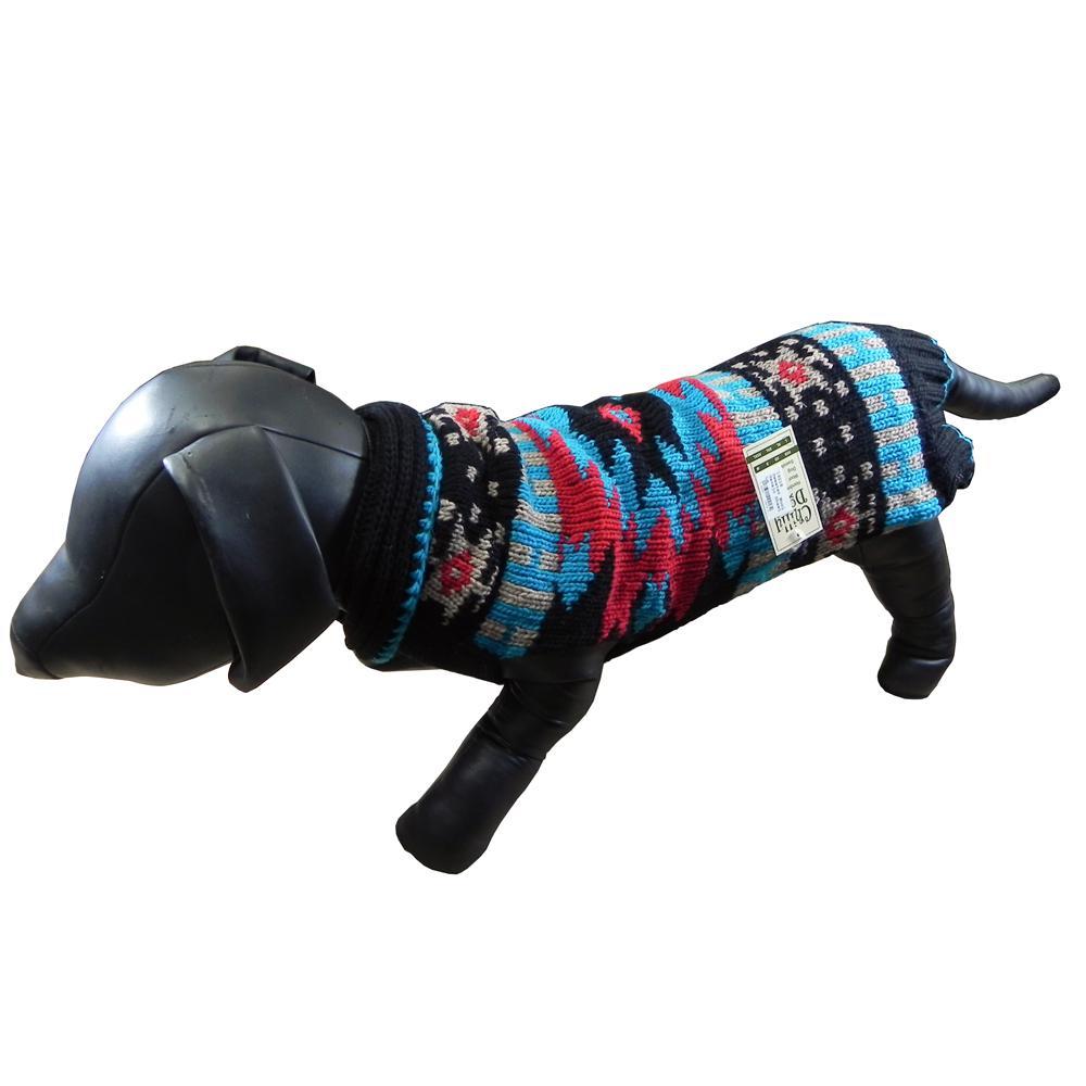 Handmade Dog Sweater Wool Navajo Shawl Small