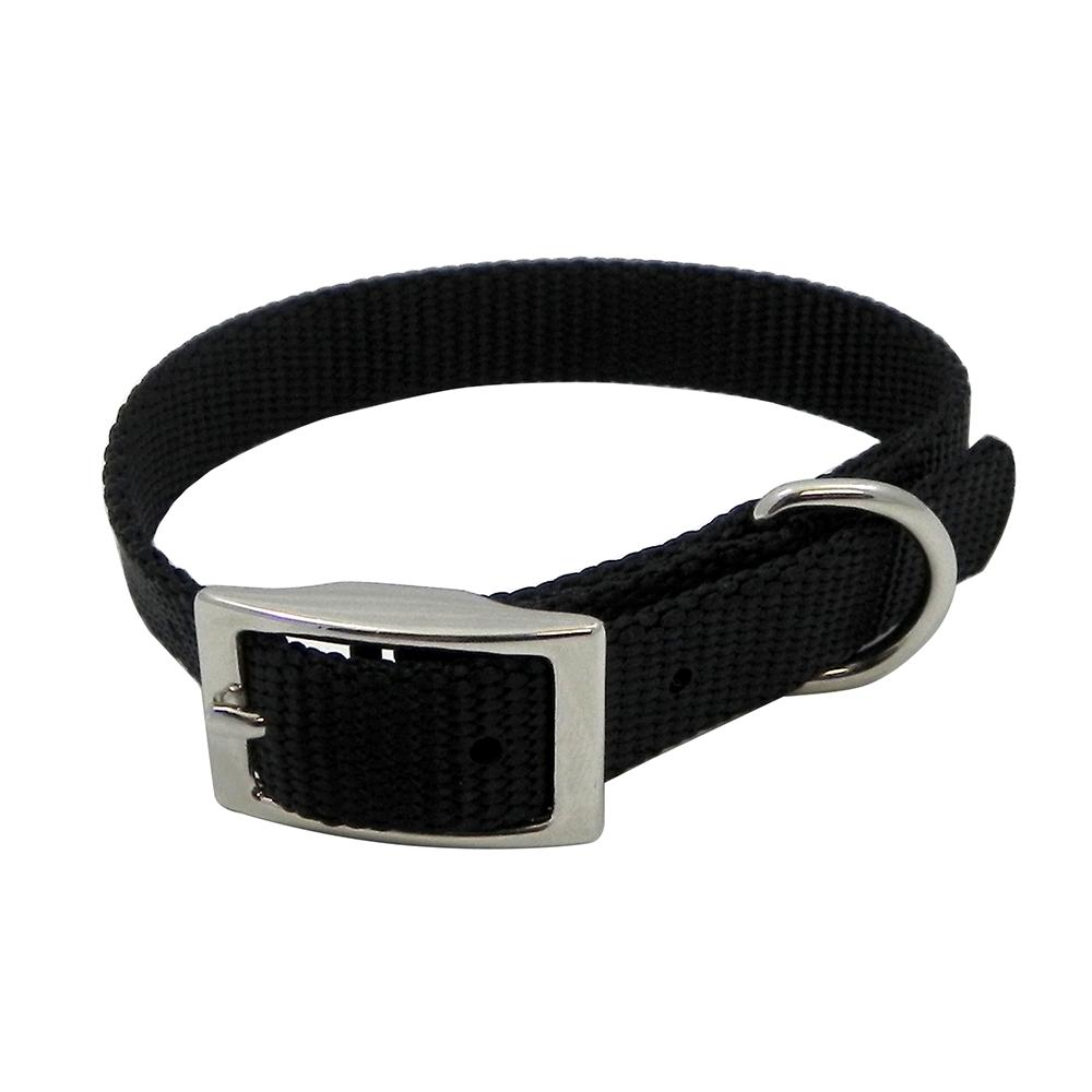 Nylon Dog Collar 5/8 inch Black 12-inch