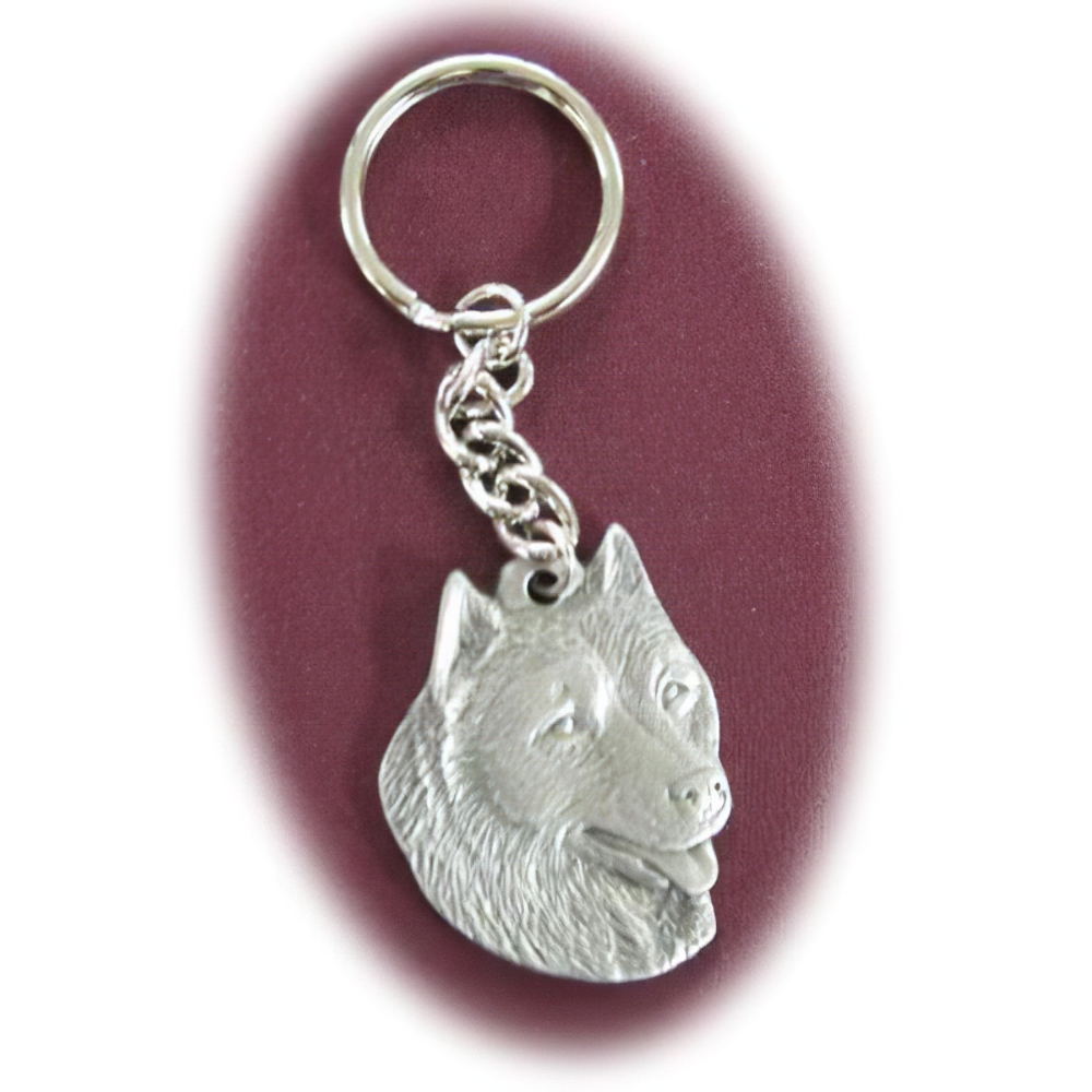 Pewter Key Chain I Love My Alaskan Malamute