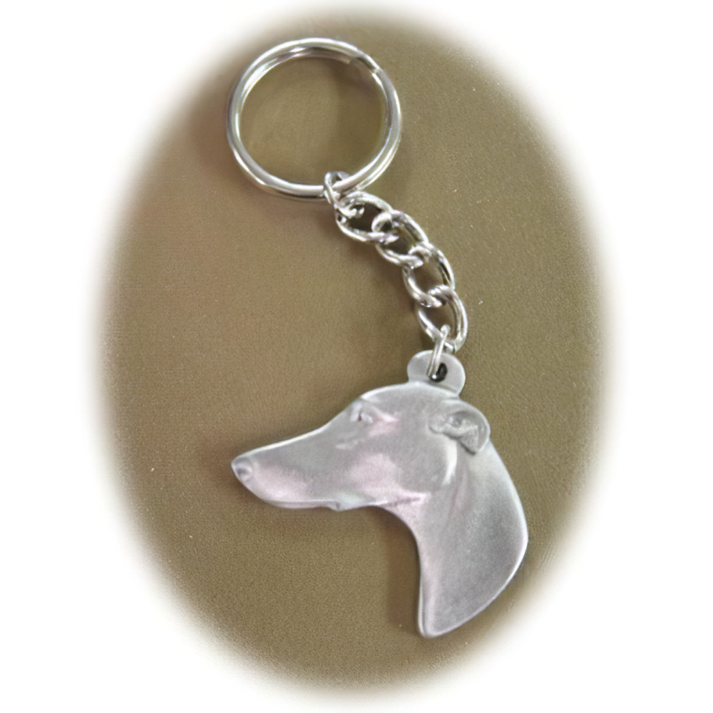 Pewter Key Chain I Love My Greyhound