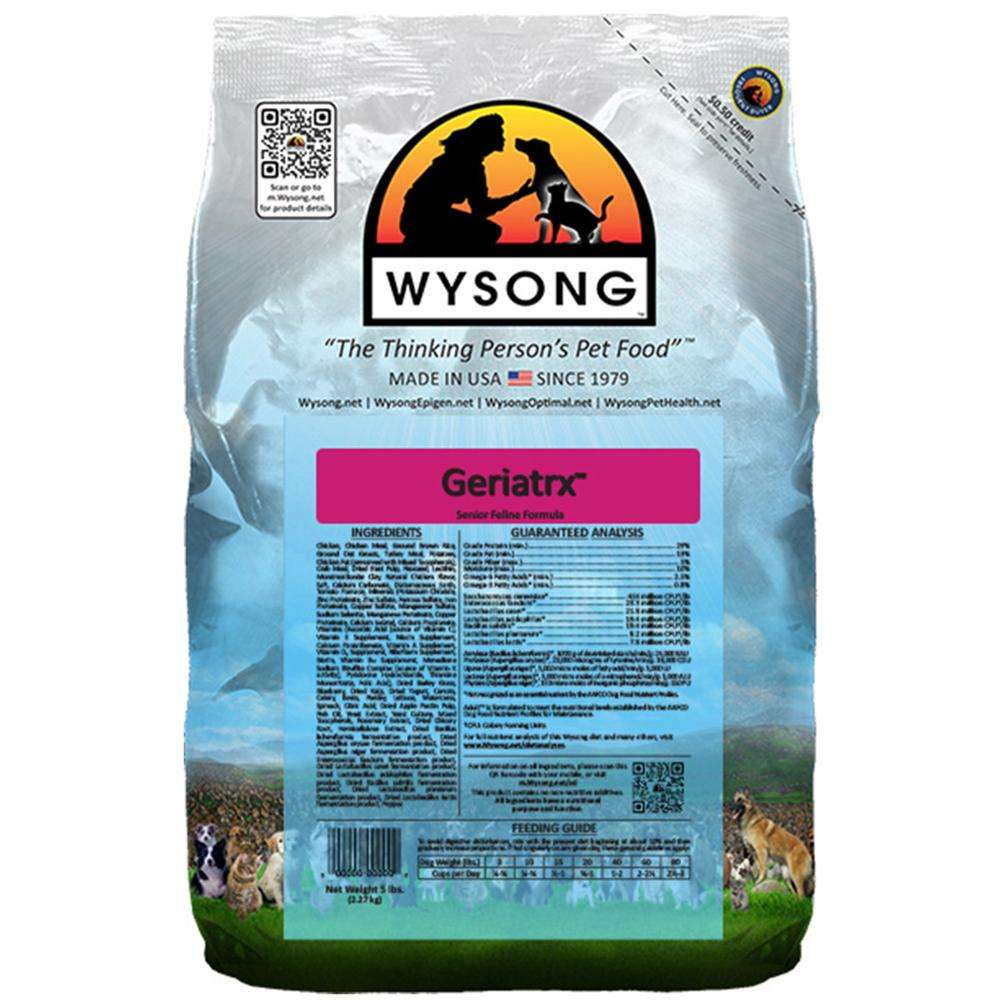 Wysong Feline Geriatrix Senior Cat Food 5 lb