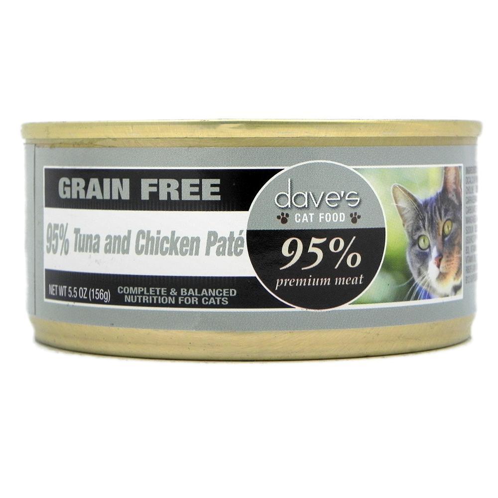 Dave's 95% Cat Tuna & Chicken 5oz each