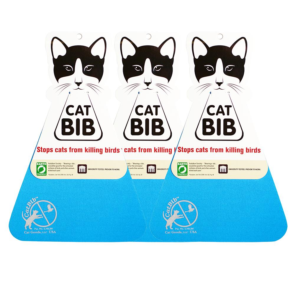 CatBib WildBird Saver Blue Small 3 pack