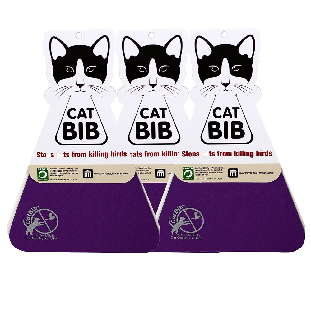 CatBib WildBird Saver Purple Small 3 pack
