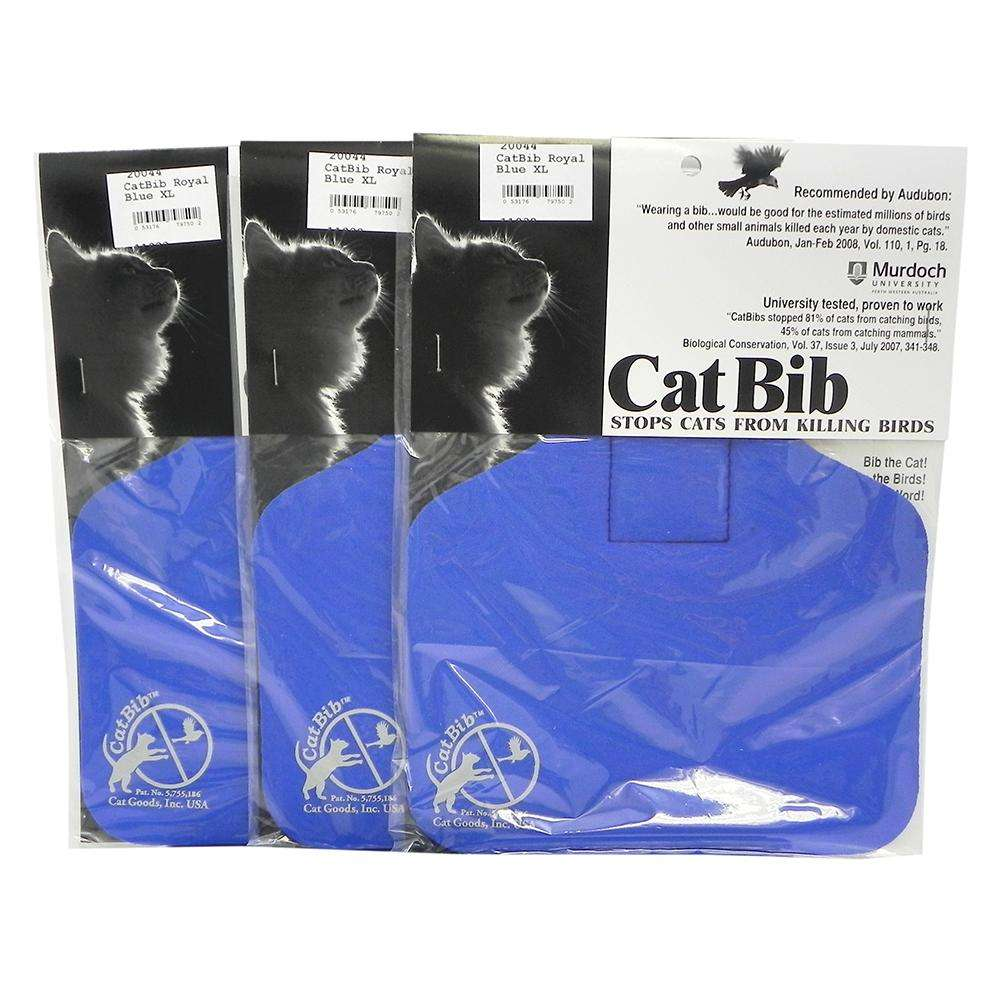 CatBib WildBird Saver Royal Blue Big 3 pack