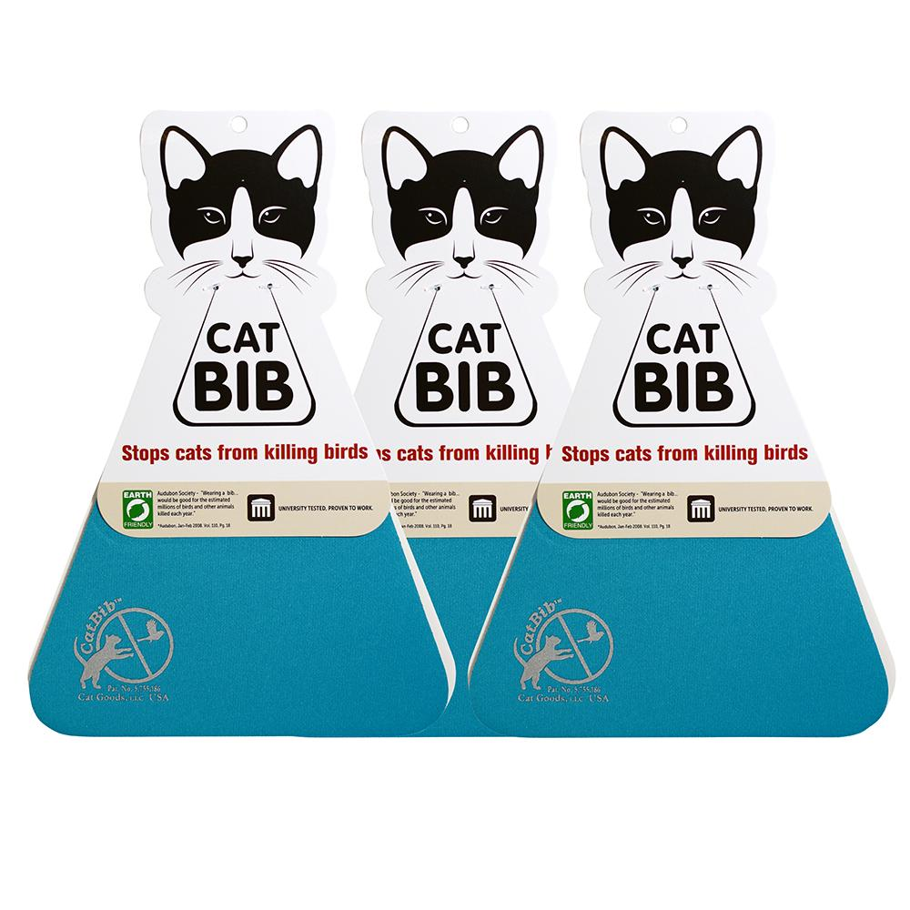 CatBib WildBird Saver Teal Small 3 pack