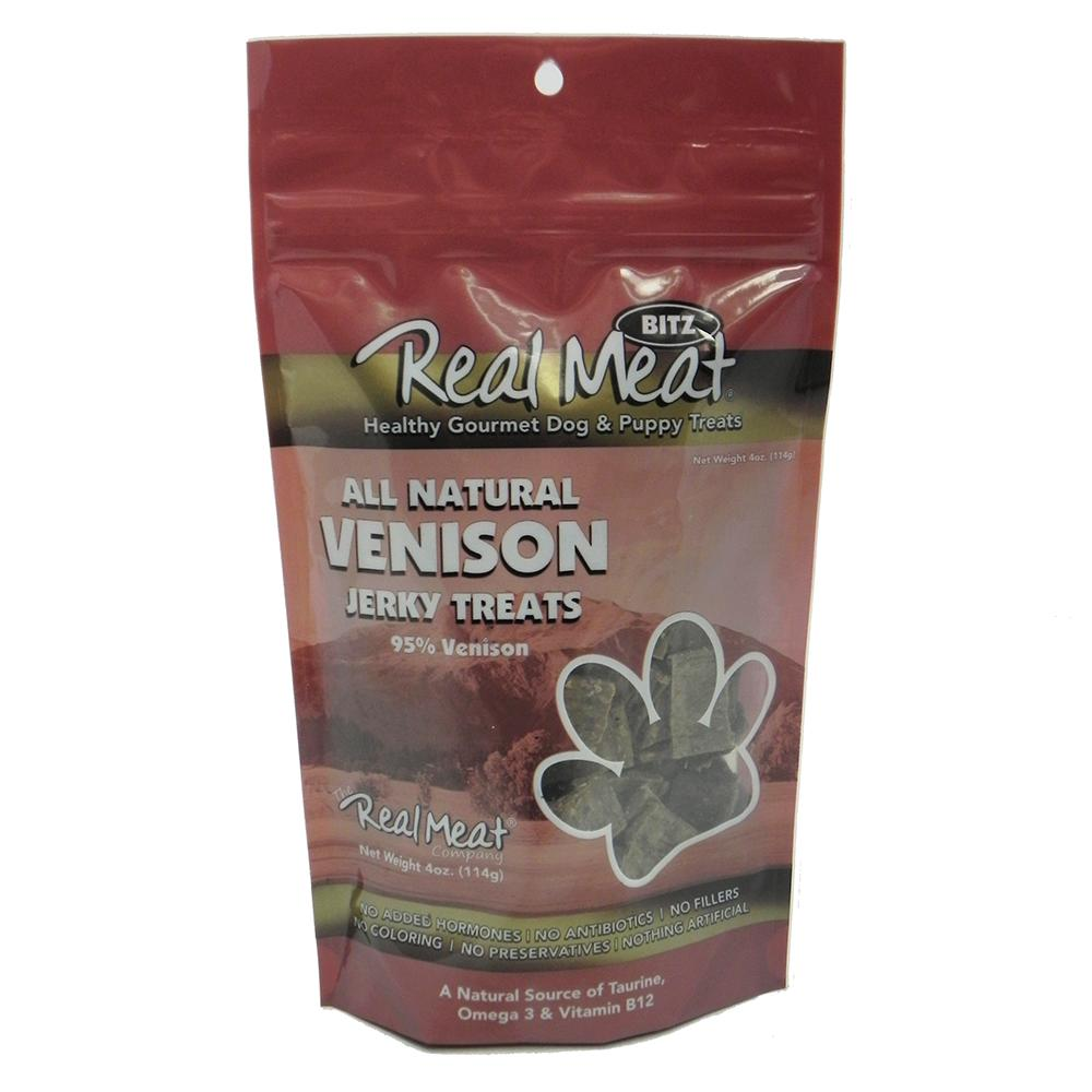 Real Meat All Natural Venison Dog Jerky Treats 4oz.
