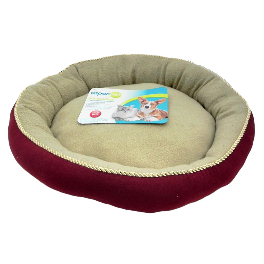 Aspen Luxury Small Dog and Cat Bed 18-inch