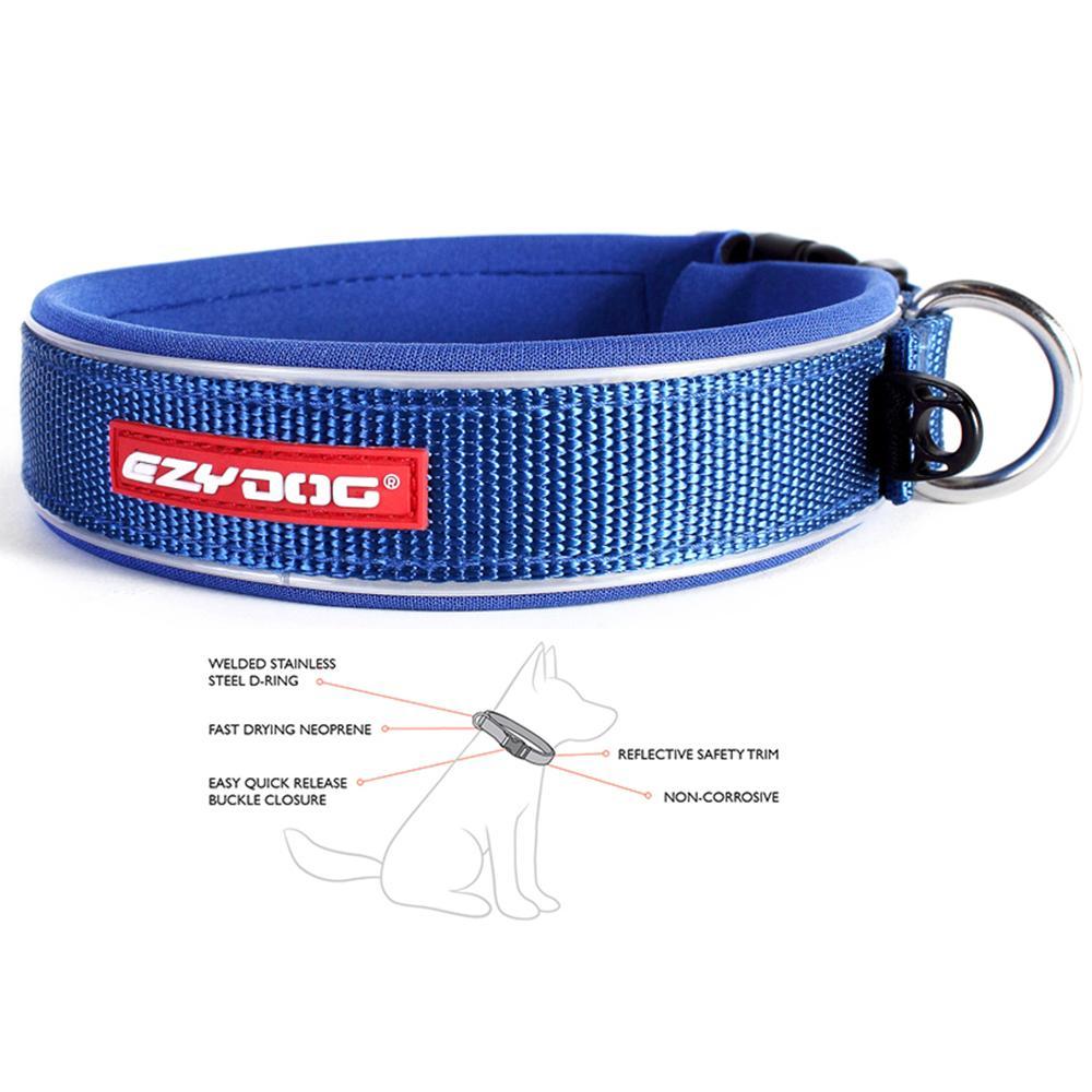 EzyDog Neo Collar Adjustable Blue Medium