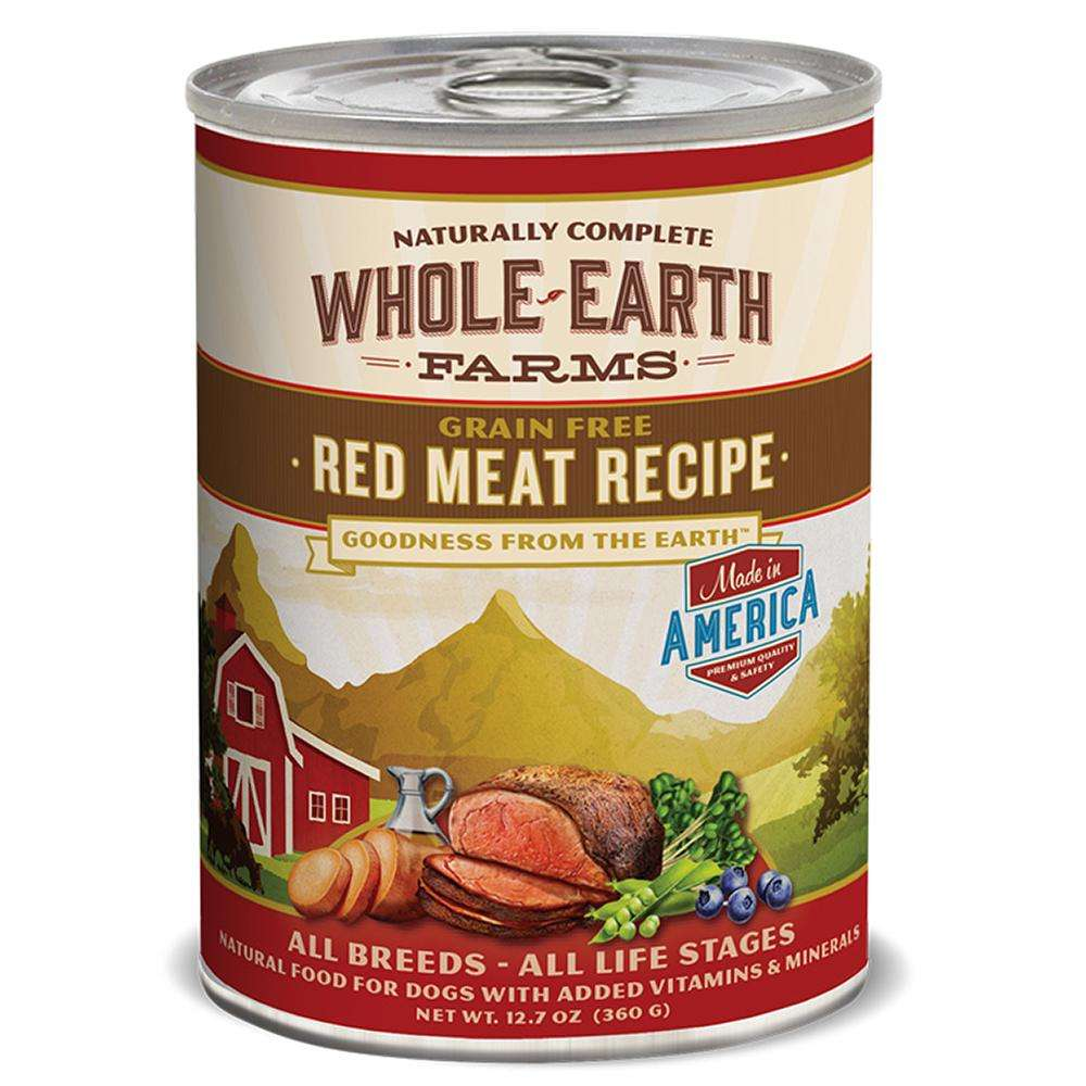Whole Earth Grain Free Red Meat 12oz case