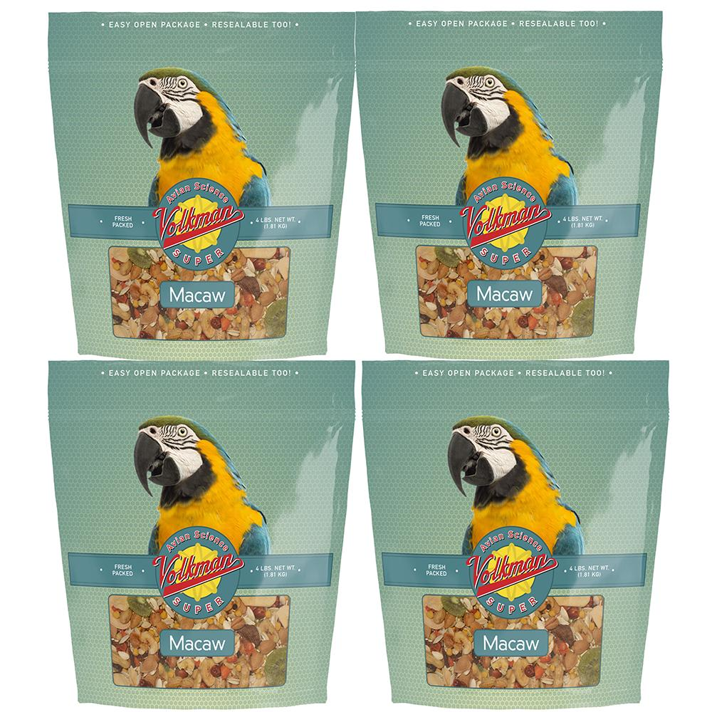 Avian Science Super Macaw Mix 4-lb 4 Pack