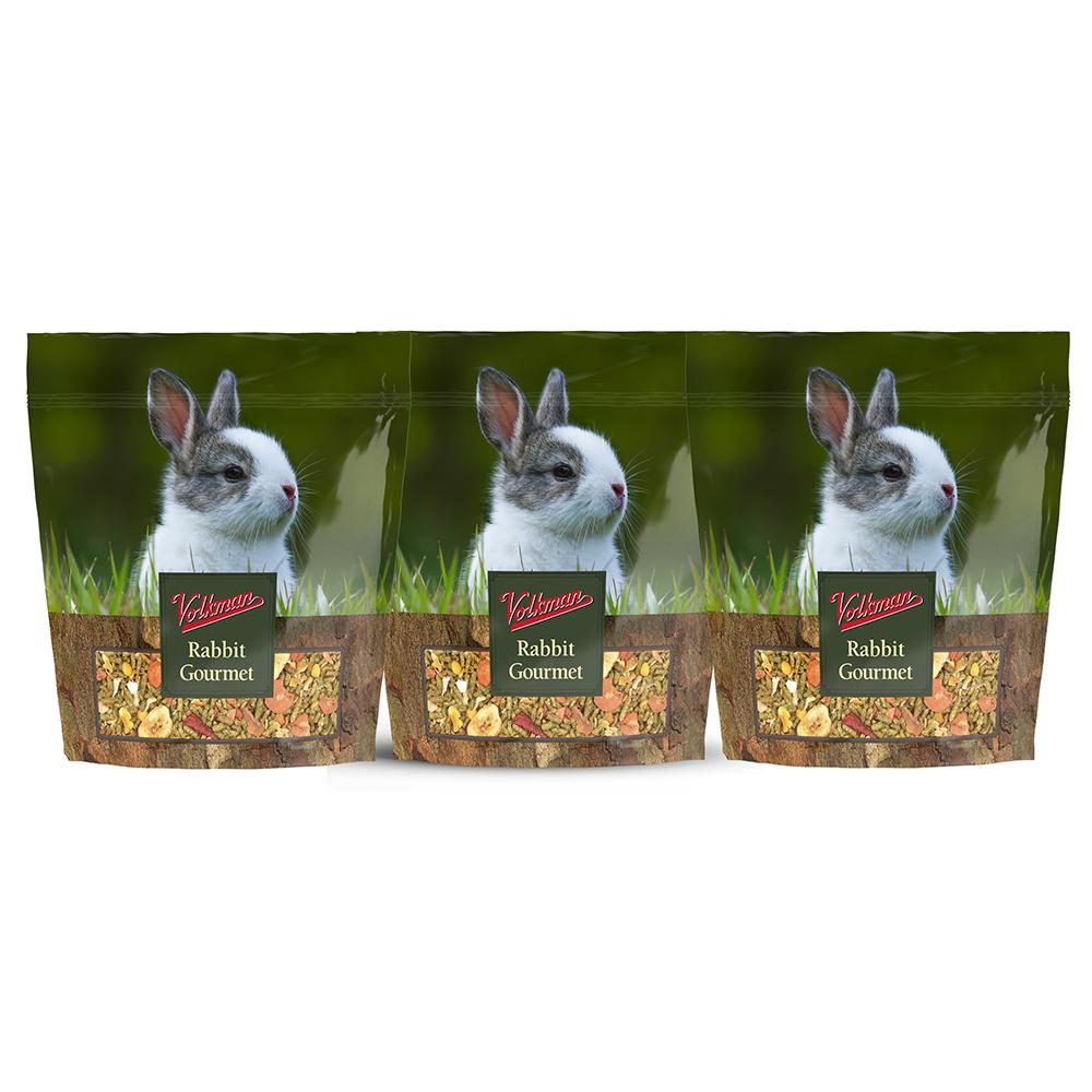 Volkman Rabbit Gourment Juvenile Rabbit Food 4Lb. 3 Pack