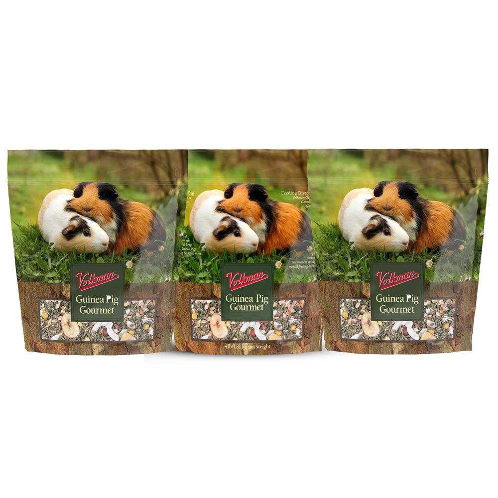 Volkman Guinea Pig Gourmet Food 4 Lb 3 Pack