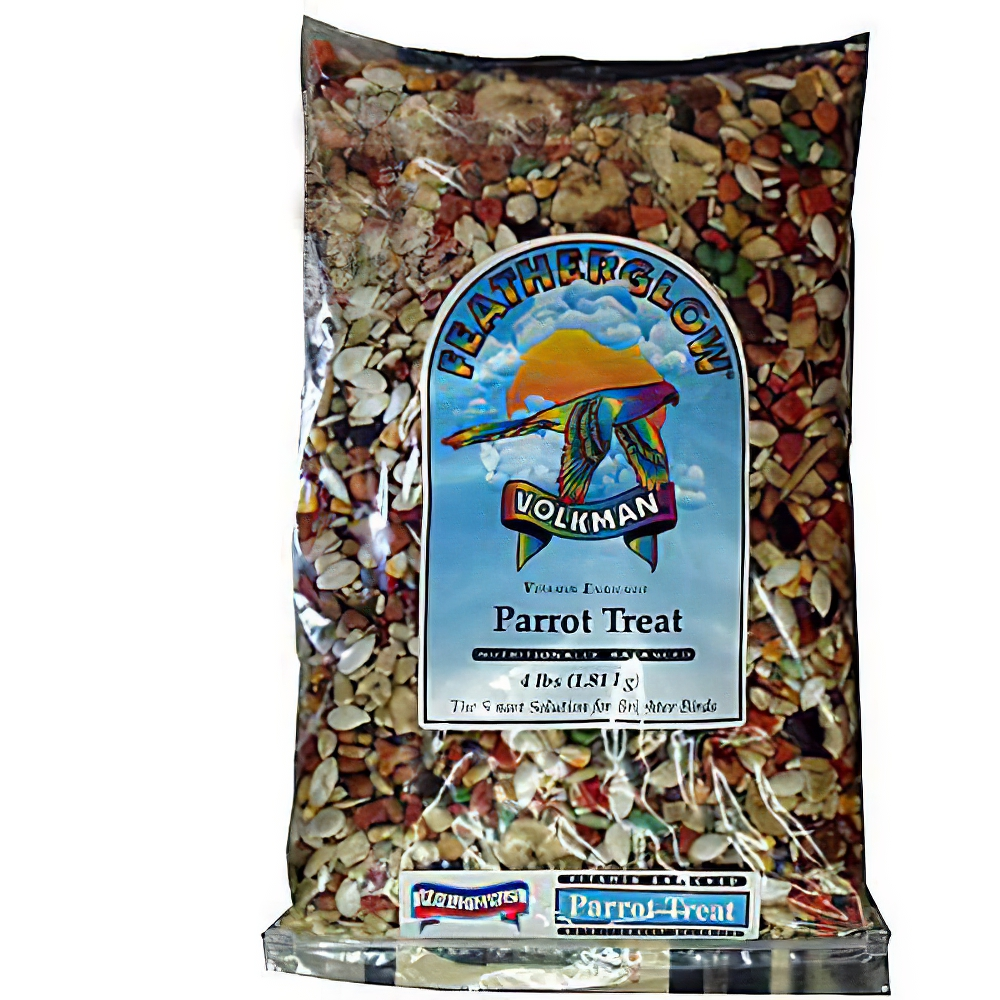 Volkman Feather Glow Parrot Treat 4 pounds 4 Pack